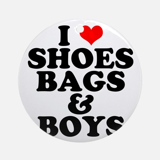 Shoes Bags & Boys Ornament (Round)