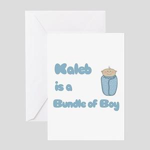 Kaleb is a Bundle of Boy Greeting Card