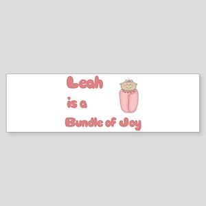 Leah is a Bundle of Joy Bumper Sticker