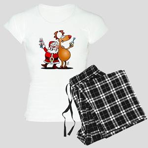 Santa Claus and his Reindee Women's Light Pajamas