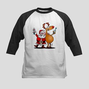 Santa Claus and his Reindeer Baseball Jersey