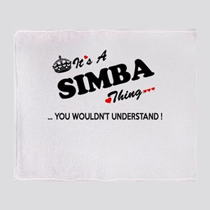 SIMBA thing, you wouldn't understand Throw Blanket