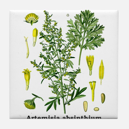 Absinthe Wormwood Tile Coaster