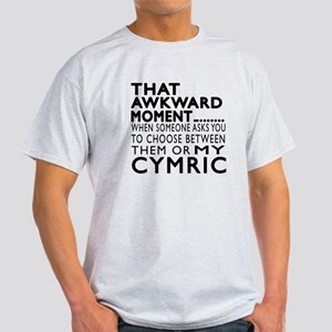Awkward Cymric Cat Designs Light T-Shirt
