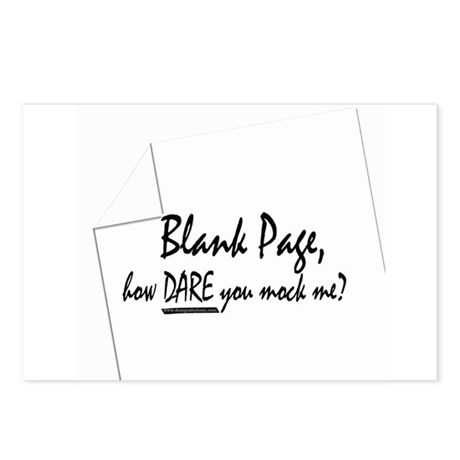 Blank Page how dare you Postcards (Package of 8)