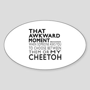 Awkward Cheetoh Cat Designs Sticker (Oval)
