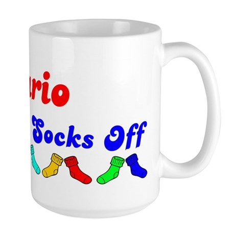 Dario Rocks Socks (B) Large Mug