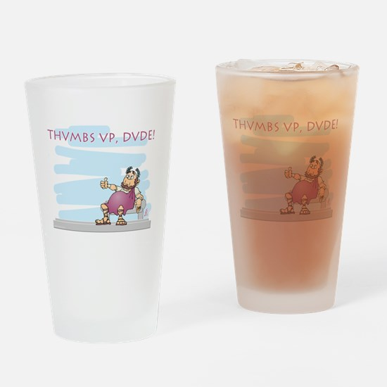 Thumbs up for Brutus Drinking Glass