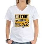 70s Retro Chevy Van Women's V-Neck T-Shirt