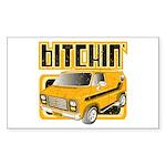 70s Retro Chevy Van Rectangle Sticker