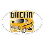 70s Retro Chevy Van Oval Sticker