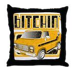 70s Retro Chevy Van Throw Pillow