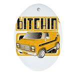 70s Retro Chevy Van Oval Ornament