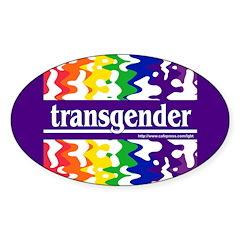 transgender Oval Decal