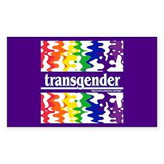 transgender Rectangle Decal