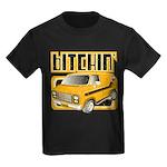 70s Retro Chevy Van Kids Dark T-Shirt