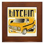 70s Retro Chevy Van Framed Tile