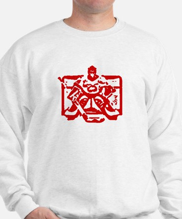 Hockey goalie red Sweatshirt