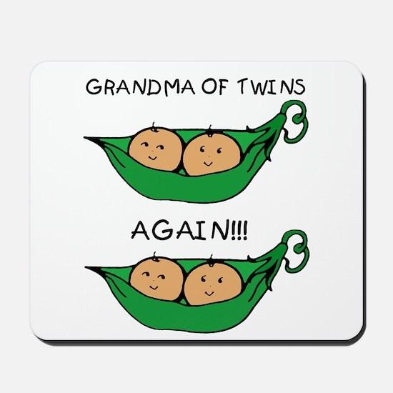 Grandma of Twins Again Mousepad