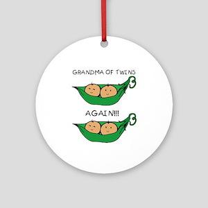 Grandma of Twins Again Ornament (Round)
