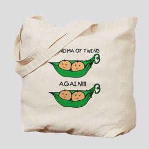 Grandma of Twins Again Tote Bag