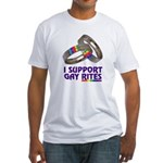 I SUPPORT GAY RITES Fitted T-Shirt