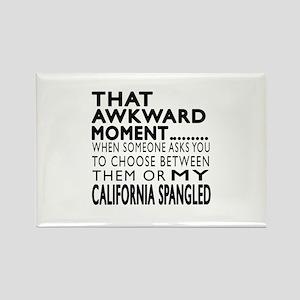 Awkward California Spangled Cat D Rectangle Magnet