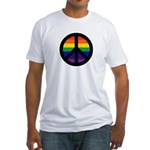 RAINBOW PEACE SYMBOL Fitted T-Shirt