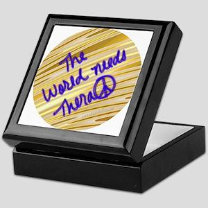 The world needs therapeace Keepsake Box