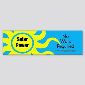Solar Power No War Required Bumper Sticker