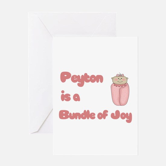 Peyton is a Bundle of Joy Greeting Card