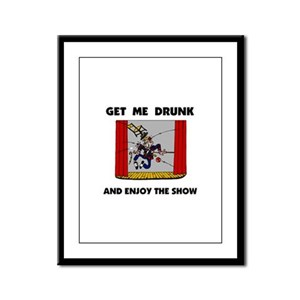 DRUNK Framed Panel Print
