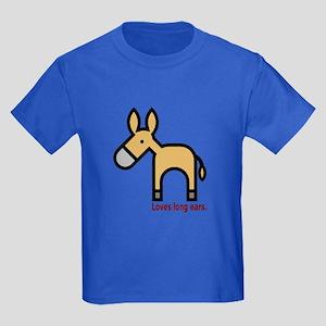 Loves Long Ears Kids Dark T-Shirt