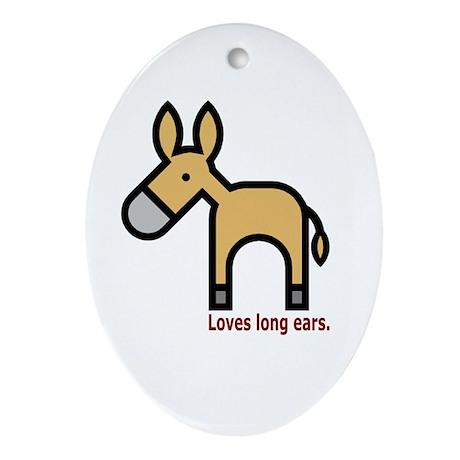 Loves Long Ears Oval Ornament