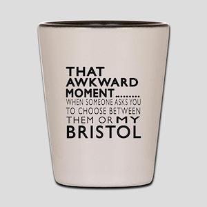 Awkward Bristol Cat Designs Shot Glass