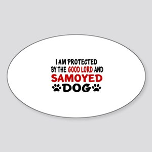 Protected By Samoyed Sticker (Oval)