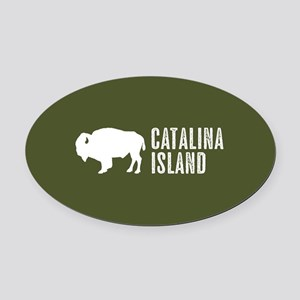 Bison: Catalina Island Oval Car Magnet
