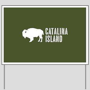 Bison: Catalina Island Yard Sign