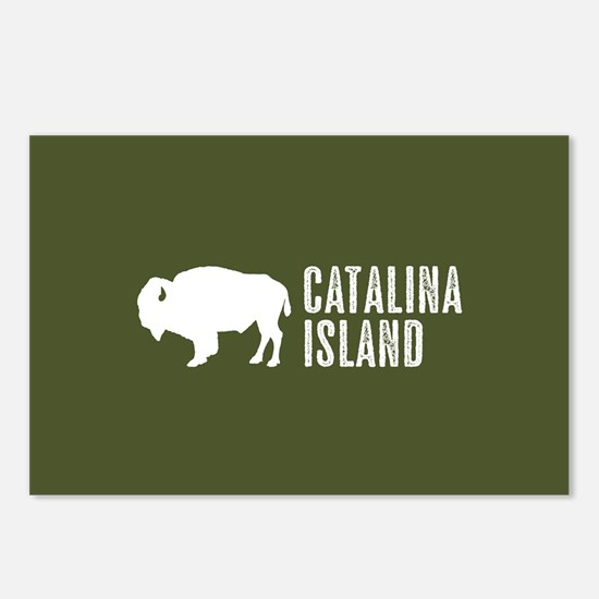 Bison: Catalina Island Postcards (Package of 8)