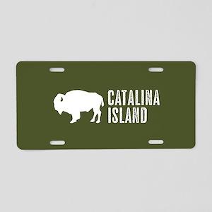 Bison: Catalina Island Aluminum License Plate