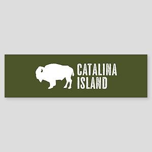 Bison: Catalina Island Sticker (Bumper)