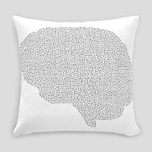 brain maze Everyday Pillow