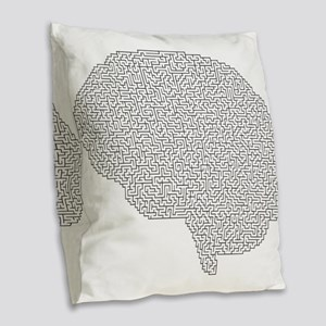 brain maze Burlap Throw Pillow