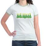 ILY Christmas Forest Jr. Ringer T-Shirt