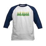 ILY Christmas Forest Kids Baseball Jersey