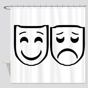 Mask happy mad Shower Curtain