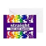straight but not narrow Greeting Cards (Package of