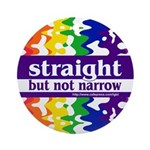 straight but not narrow Keepsake (Round)
