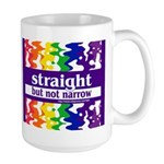 straight but not narrow Large Mug