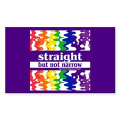 straight but not narrow Rectangle Decal